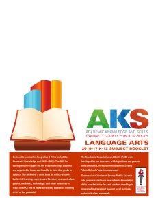 language arts - Gwinnett County Public Schools