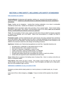 section 4- fire safety, including life safety standards