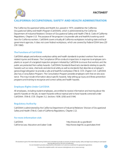 California Occupational Safety and Health Administration