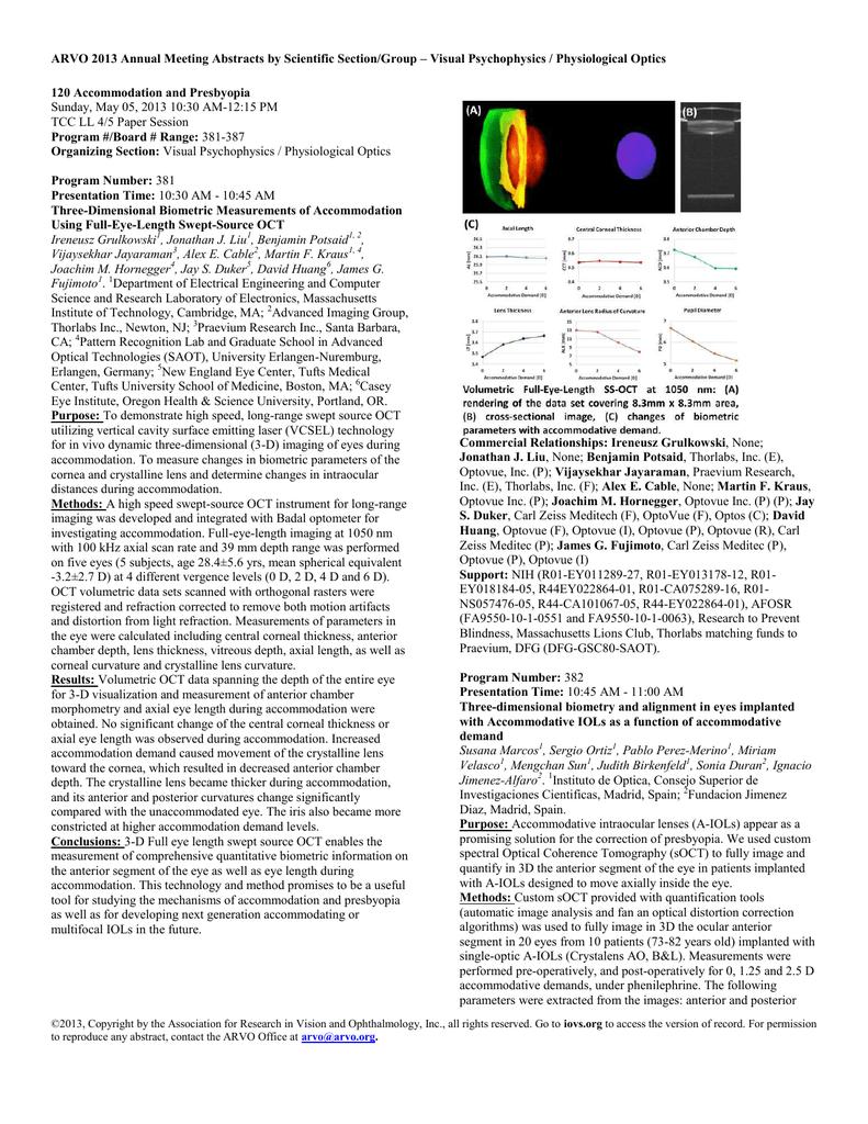 Visual Psychophysics / Physiological Optics