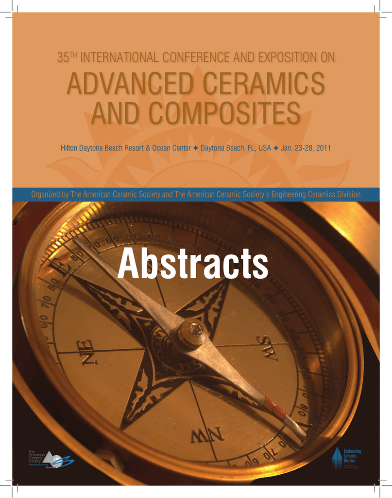 CACC`11 Abstracts - The American Ceramic Society