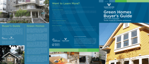 Green Homes Buyer`s Guide