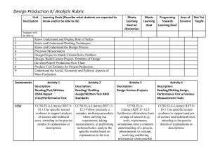 Design Prod. II Analytic Rubric