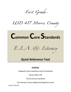 CC ELA-Literacy-First - Morris County USD 417