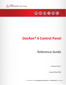 DocAve® 6 Control Panel