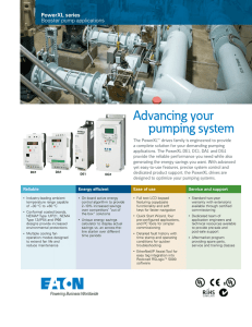 Advancing your pumping system