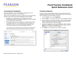 PowerTeacher Gradebook Quick Reference Card