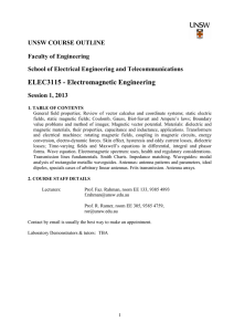ELEC3115 - Electromagnetic Engineering