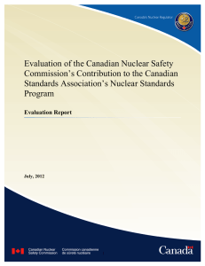 Link to report - Canadian Nuclear Safety Commission