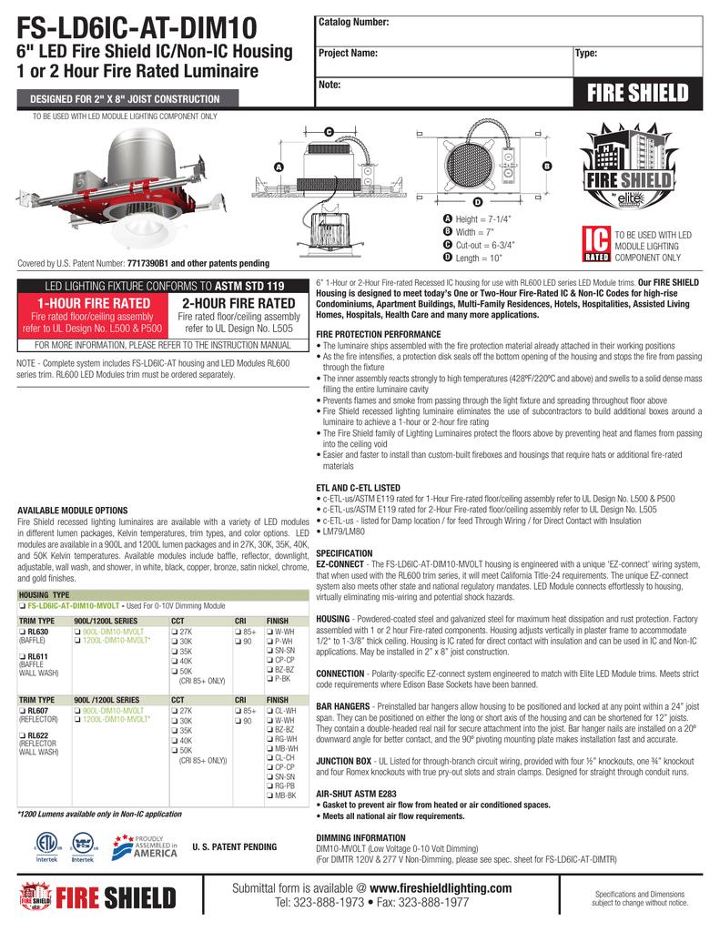 Spec Sheet Fire Shield Lighting
