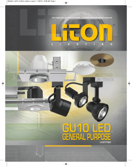 "2"" GU10 LED - LITON Lighting"