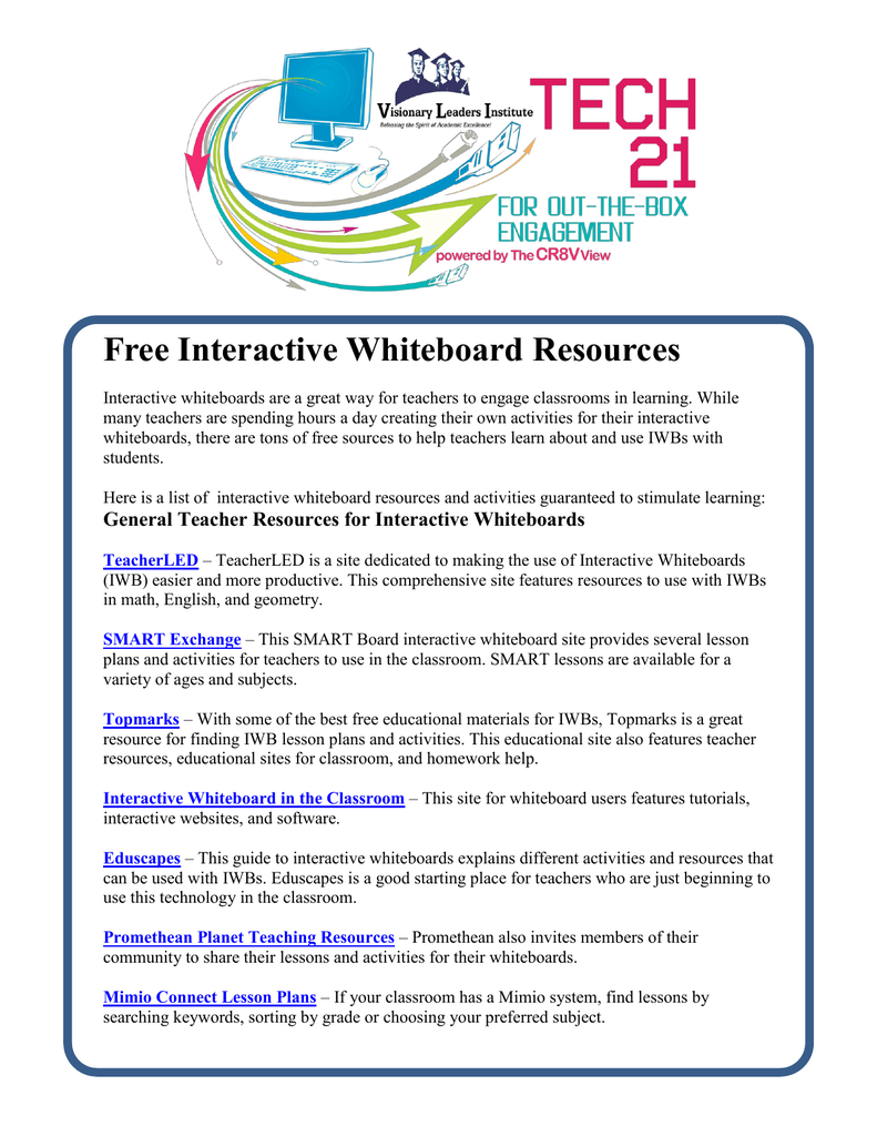 Free Interactive Whiteboard Resources