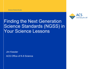 NGSS - American Association of Chemistry Teachers