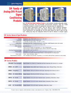 5M Family of Analog-DIN Mount Signal Conditioning Modules