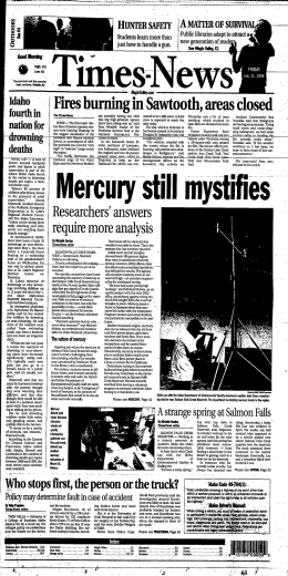 M - Twin Falls Public Library Newspaper Archive