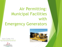 Air Permits For Generators Cotter