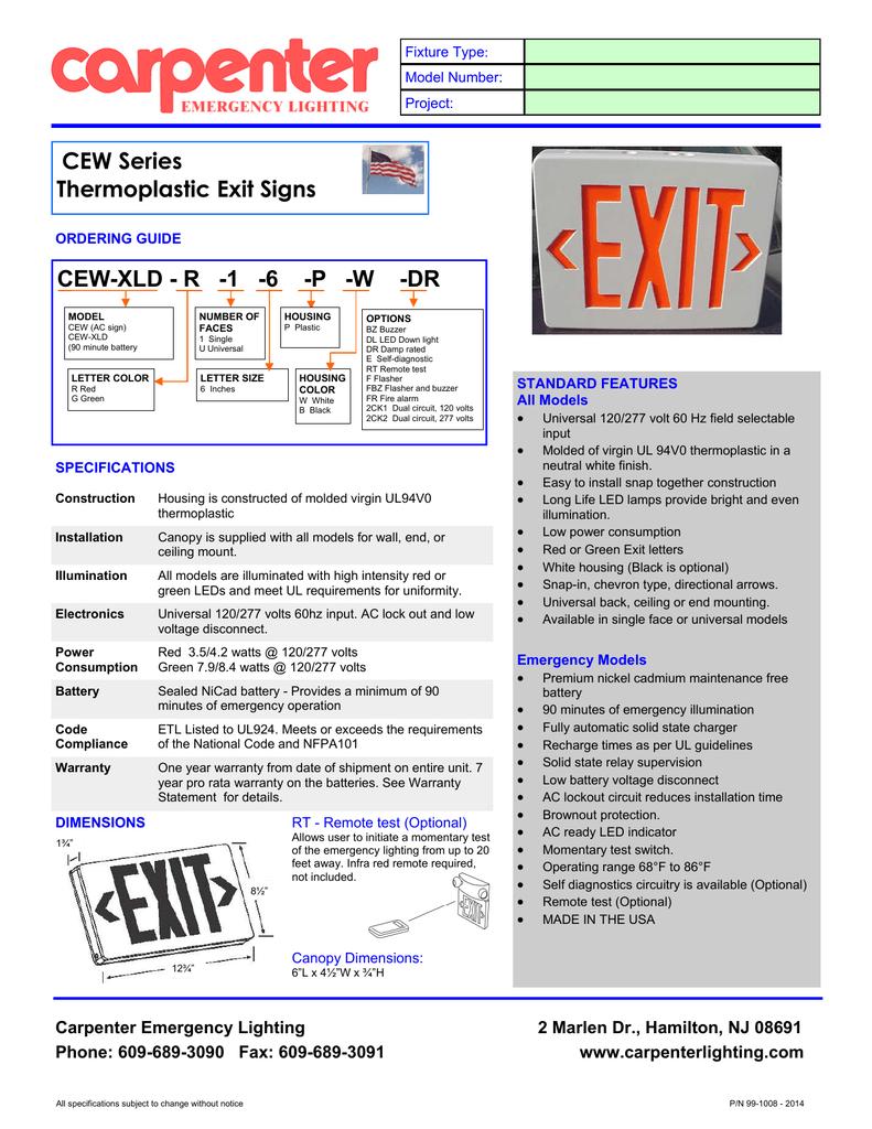 Cew P Carpenter Emergency Lighting