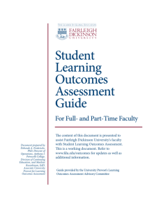 Student Learning Outcomes Assessment Guide