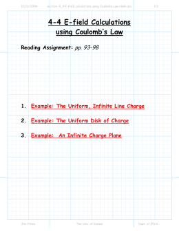 4-4 E-field Calculations using Coulomb`s Law