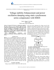 Voltage stability Enhancement and power oscillation damping using