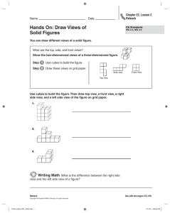 Hands On: Draw Views of Solid Figures