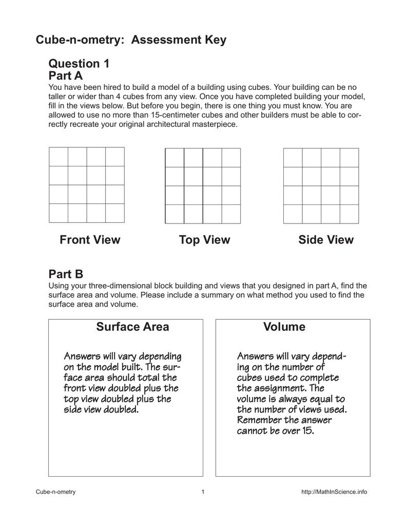 Quiz Worksheet Surface Area To Volume