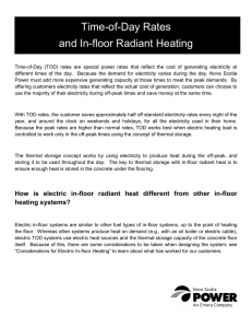 Time of Day Rates and In-Floor Radiant Heating