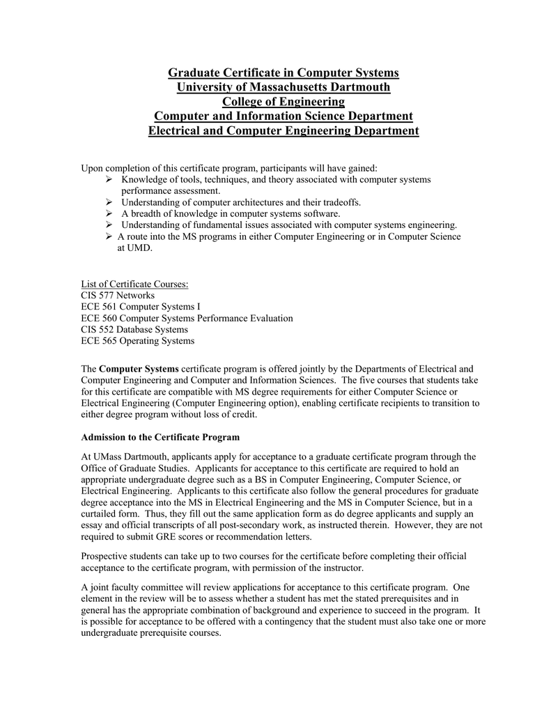 Graduate certificate programs in electrical engineering xflitez Images