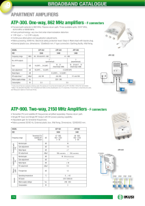 BROADBAND CATALOGUE ATP-300. One