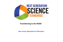 Information the Next Generation Science Standards