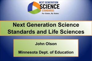 Next Generation Science Standards and Life Sciences