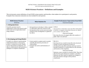 NGSS 8 Science Practices – Definitions and Examples