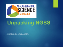 Unpacking NGSS - Orange Unified School District