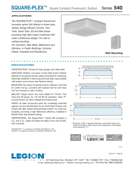 540 Series Square-Plex Surface Square Compact  sc 1 st  studylib.net & DRUM-PLEX® - Legion Lighting azcodes.com
