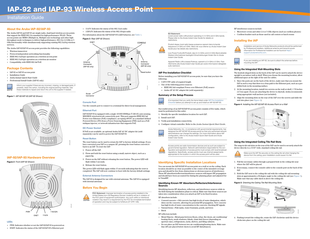 IAP-92 and IAP-93 Wireless Access Point