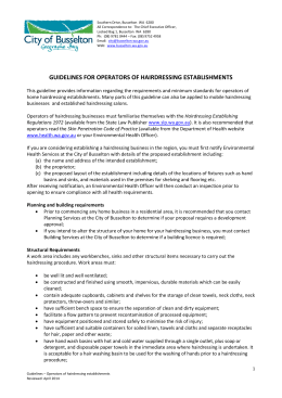 guidelines for operators of hairdressing