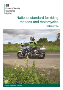 National standard for riding mopeds and motorcycles