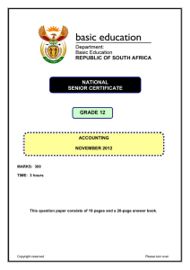Question Paper - Department of Basic Education