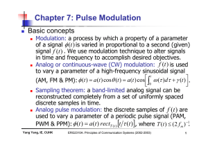 Chapter 7: Pulse Modulation