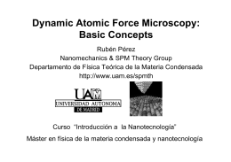 Dynamic Atomic Force Microscopy: Basic Concepts