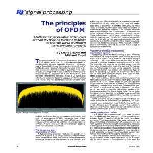 The principles of OFDM