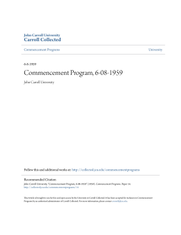Commencement Program, 6-08-1959 - Carroll Collected