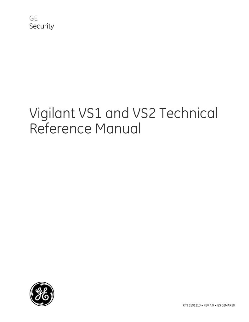 Vigilant Vs1 And Vs2 Technical Reference Manual Ber Pam1 Relay Wiring Diagram
