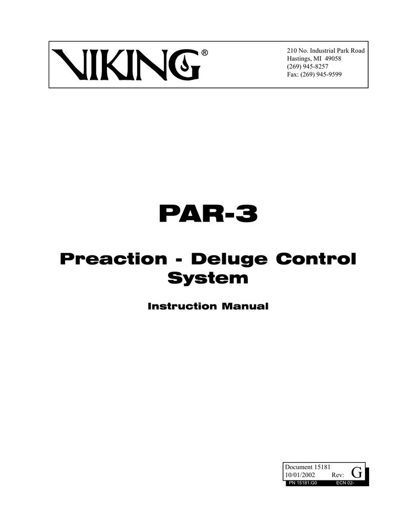 Instruction Manual - Viking Group Inc