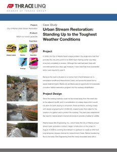 Urban Stream Restoration: Standing Up to the - Thrace-LINQ