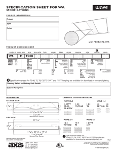 specification sheet for wa