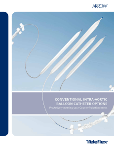 conventional intra-aortic balloon catheter options
