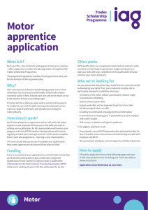 Motor apprentice application
