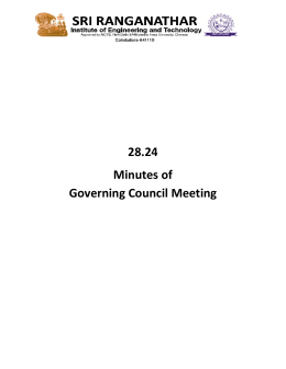 28.24 Minutes of Governing Council Meeting