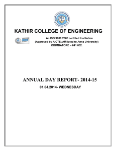 Annual day report PDF - Kathir College of Engineering